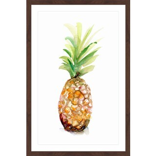 Marmont Hill - 'Pineapple 1' by Michelle Dujardin Framed Painting Print - Multi