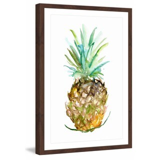 Marmont Hill - 'Pineapple 2' by Michelle Dujardin Framed Painting Print