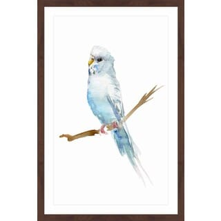 Marmont Hill - 'Parakeet' by Michelle Dujardin Framed Painting Print