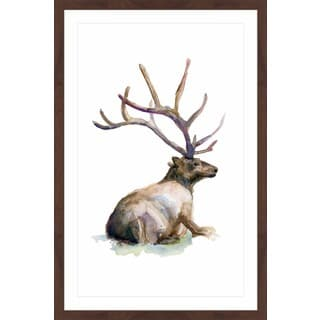 Marmont Hill - 'Deer Ping' by Michelle Dujardin Framed Painting Print