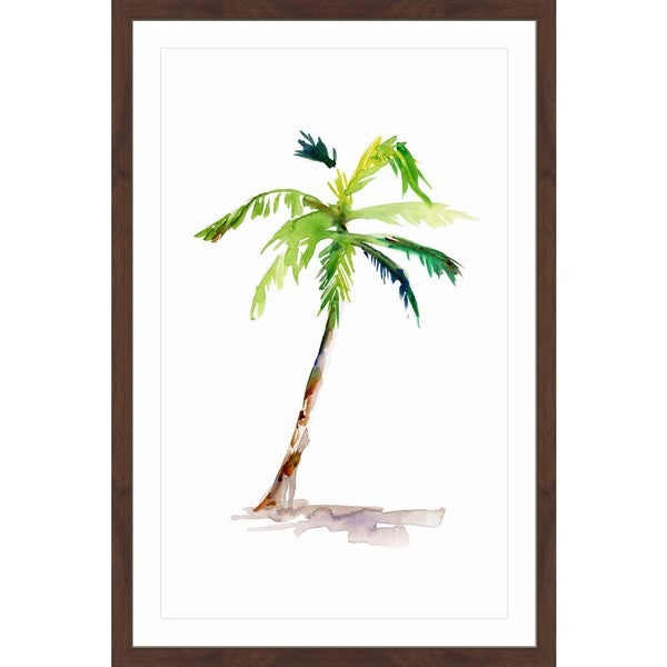 Marmont Hill - 'Watercolor Palm' by Michelle Dujardin Framed Painting Print