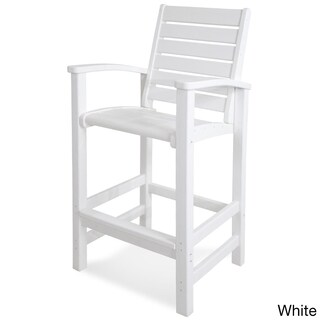 POLYWOOD Polyethylene Signature Bar-height Chair (More options available)