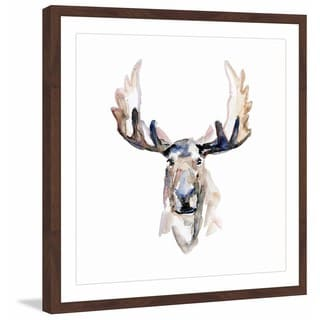 Marmont Hill - 'Moose Face' by Michelle Dujardin Framed Painting Print