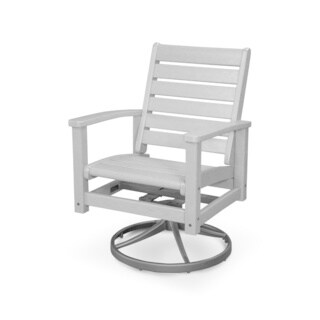 POLYWOOD Signature Outdoor Swivel Rocking Chair