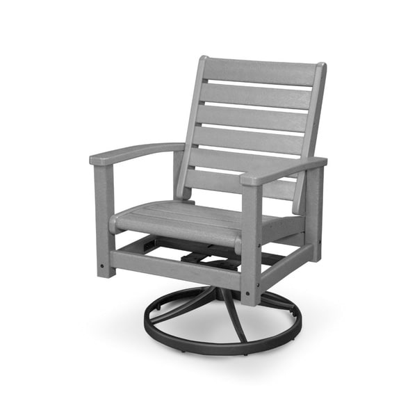 POLYWOOD Signature Aluminum And Polywood Swivel Rocker Chair