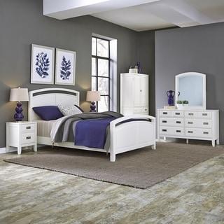 Home Styles Newport Queen Bed; Night Stand; Door Chest; with Dresser & Mirror