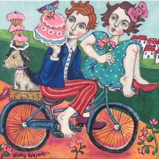 Marmont Hill - 'The Cake Getaway' by Holly Wojahn Painting Print on Wrapped Canvas