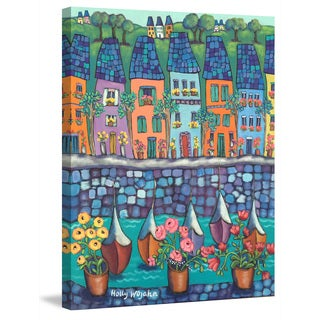 Marmont Hill - 'Ville Par La Port' by Holly Wojahn Painting Print on Wrapped Canvas