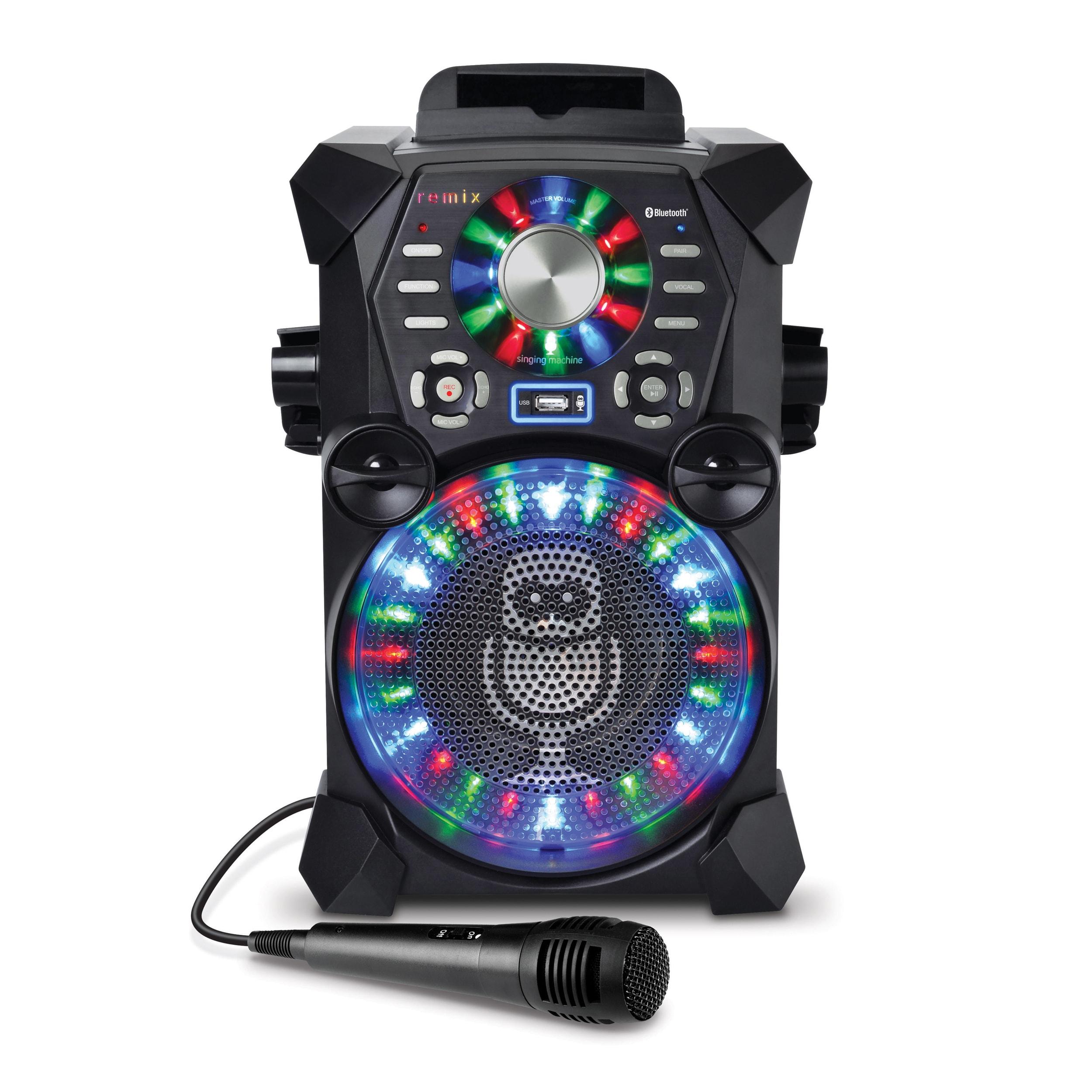 Singing Machine Remix Karaoke Machine (1) #SDL485BK