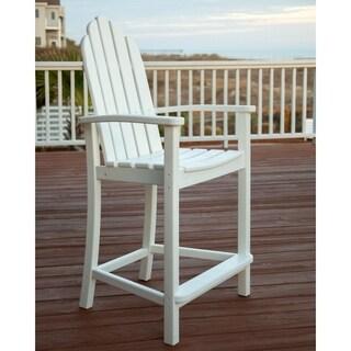 POLYWOOD Polyethylene Classic Adirondack Counter Chair