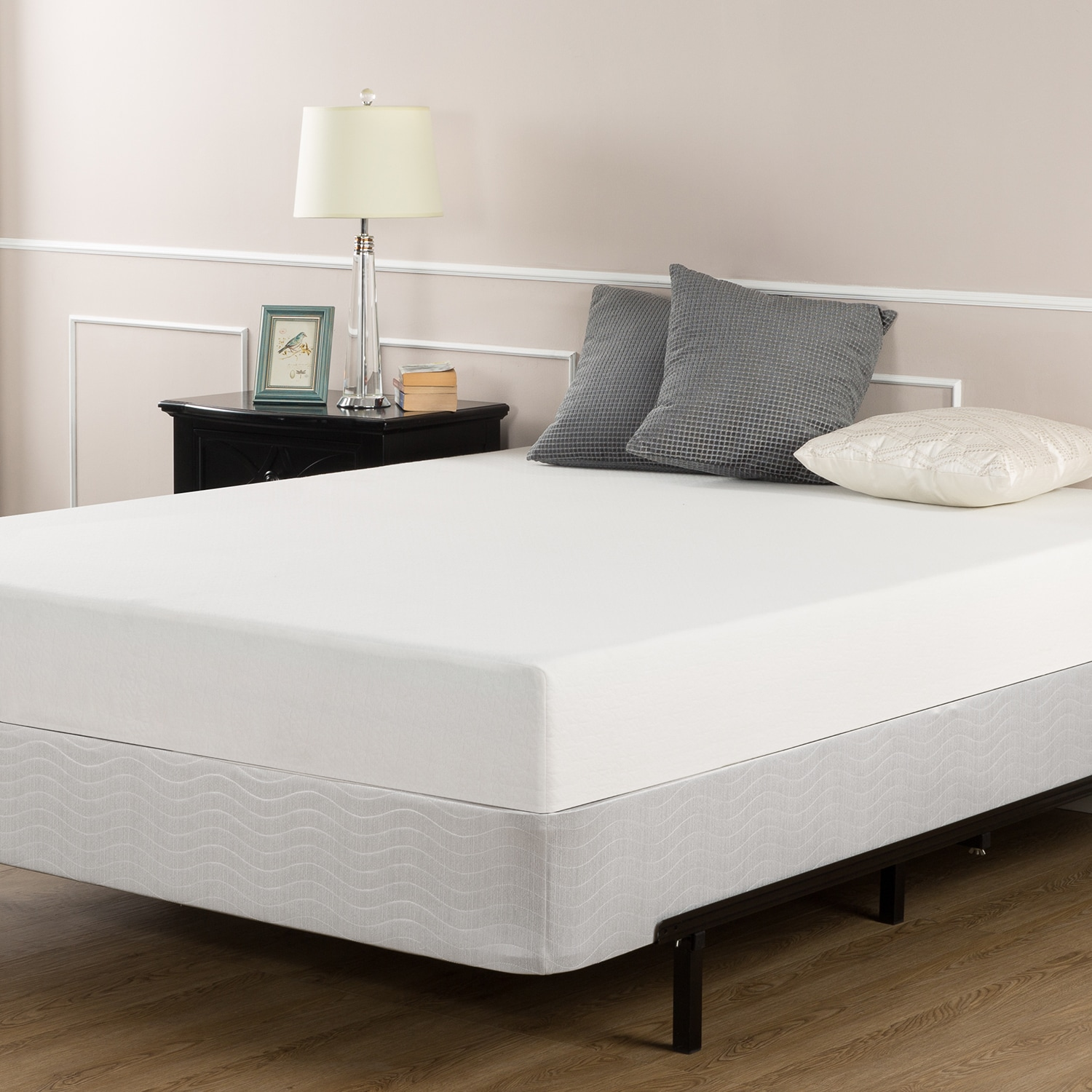 Priage 6-inch Full-size Memory Foam Mattress and Box Spri...