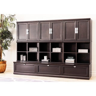 Abbyson Clarkston Espresso 9-piece Modular Bookase Wall
