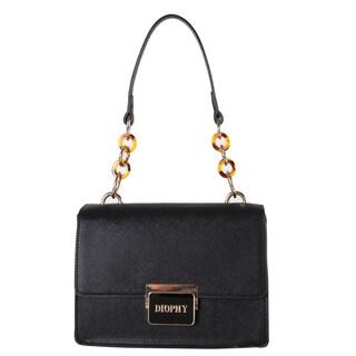 Diophy Black Faux Leather Handbag