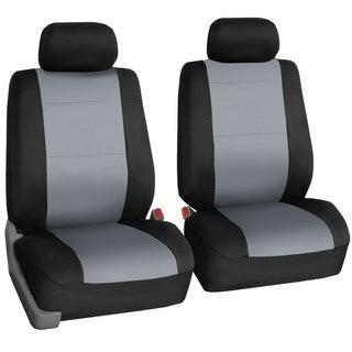FH Group Neoprene Water Resistant Bucket Seat Covers Grey (Set of 2)