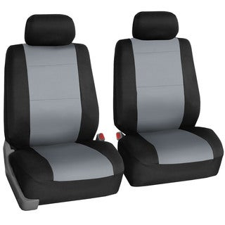 FH Group Neoprene Water Resistant Bucket Seat Covers Grey (Set of 2)