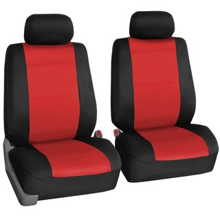 FH Group Neoprene Water Resistent Bucket Seat Covers Red (Set of 2) Airbag Compatible