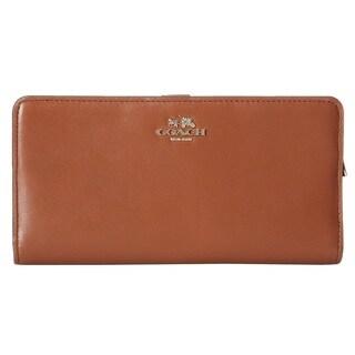 Coach Madison Saddle Leather Skinny Wallet