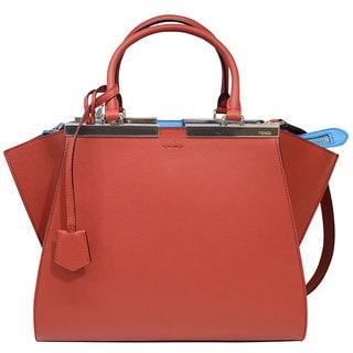 Fendi 3 Jours Small Brick Leather Shopper Handbag
