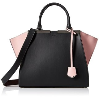 Fendi 3 Jours Small Black Leather Shopper Handbag