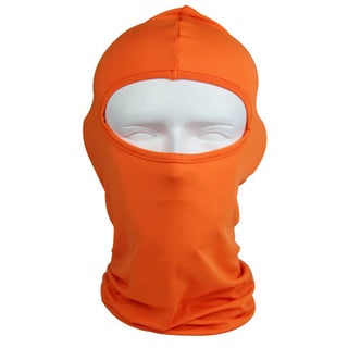 ETCBUYS Outdoor Winter Sports Orange Fabric Balaclava Full Face Mask