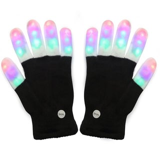 Multicolored Acrylic LED Finger-flashing Dance Party Gloves