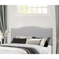 Hilale Furniture Kiley Grey Wood Fabric Full Queen Headboard