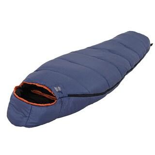 Alps Mountaineering Cedar Ridge Wolf Creek Blue and Black Polyester 0-degree Sleeping Bag