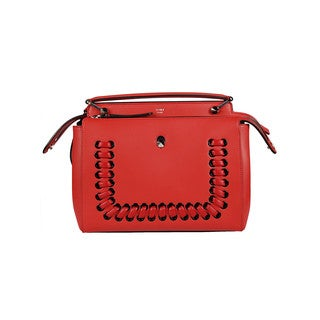 Fendi Dotcom Leather Shoulder Bag
