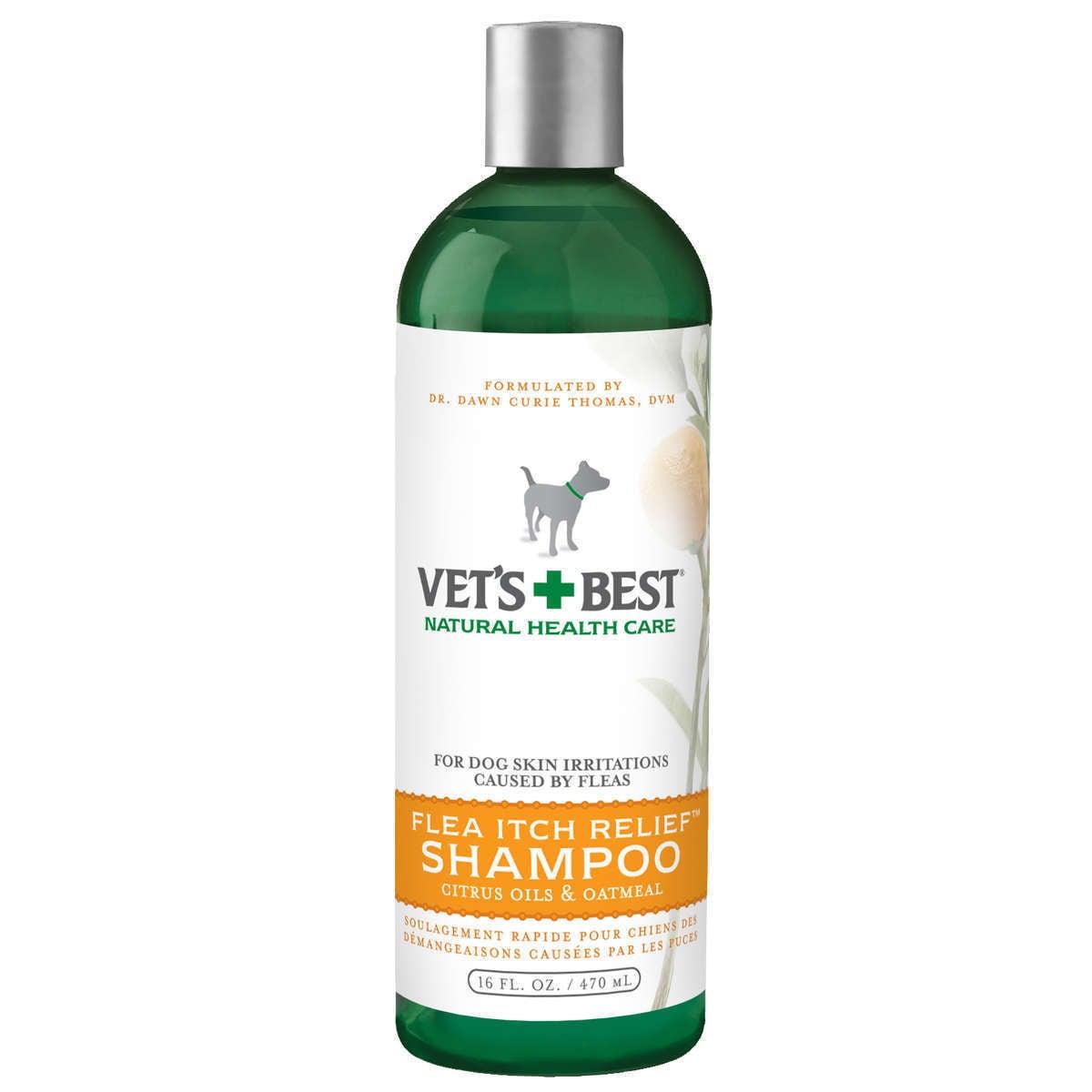 Vet's Best Flea Itch Relief Dog Shampoo (16 ounces), Grey