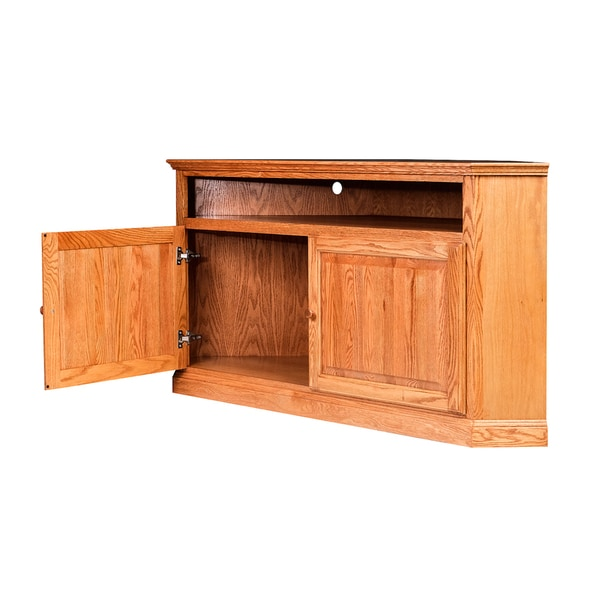 shop forest designs traditional large corner tv stand 63w x 32h x 32d free shipping today. Black Bedroom Furniture Sets. Home Design Ideas