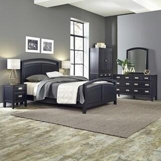Home Styles Prescott Queen Bed; Night Stand; Door Chest; with Dresser & Mirror
