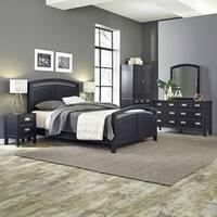 Prescott Queen Bed; Night Stand; Door Chest; with Dresser & Mirror by Home Styles