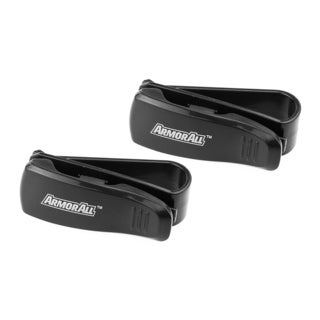 Armor All Multifunction Removable Sunglasses Shades Car Visor Clip (2 Pack)