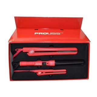 Proliss The Infusion Red Gift Set Red Styler, Straightener, Curler