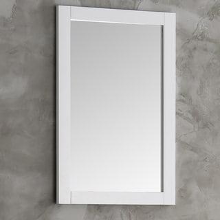 Fresca Hartford White Wood 20-inch Traditional Bathroom Mirror