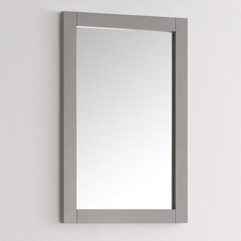 Fresca Hartford Grey Wood and Glass 20-inch Traditional Bathroom Mirror