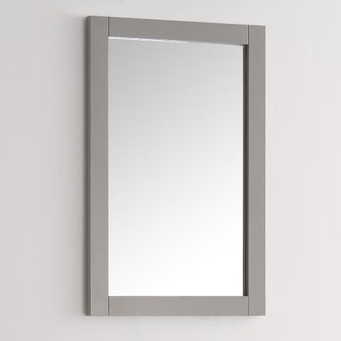 Fresca Hartford Grey Wood and Glass 20-inch Traditional Bathroom Mirror