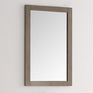Fresca Greenwich 20-inch Antique Silver MDF Traditional Bathroom Mirror