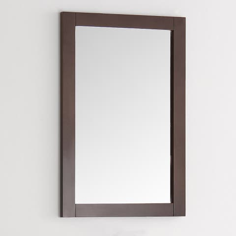 Fresca Greenwich 20-inch Antique Coffee Wood Traditional Bathroom Mirror - Antique Brown - A/N