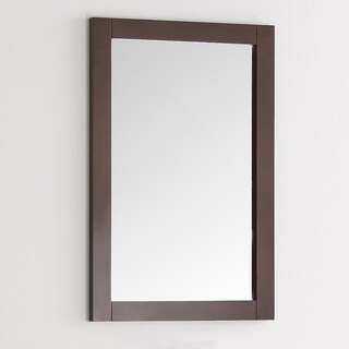 Fresca Greenwich 20-inch Antique Coffee Wood Traditional Bathroom Mirror