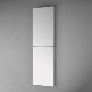 Fresca Silver Aluminum 52-inch Bathroom Medicine Cabinet with Mirrors