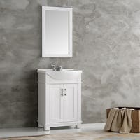 Fresca Hartford White Wood 24-inch Traditional Bathroom Vanity