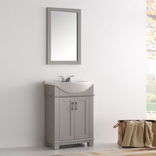 Fresca Hartford Grey Wood 24-inch Single-Sink Bathroom Vanity