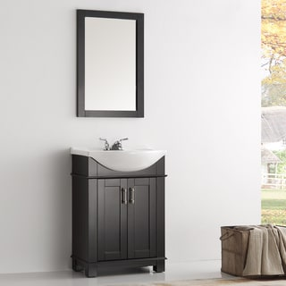 Fresca Hartford Black Wood 24inch Traditional Bathroom Vanity