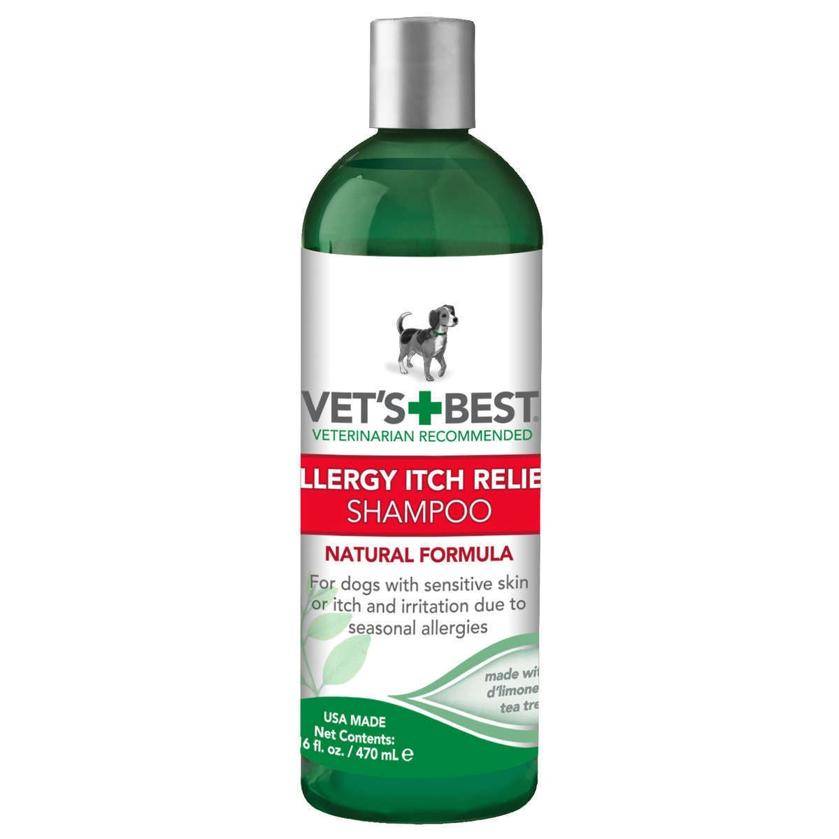 Vet's Best Allergy Itch Relief Dog Shampoo (16 ounces), Grey