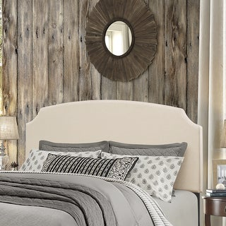 Hillsdale Furniture Addison Beige Wood/Linen King Headboard