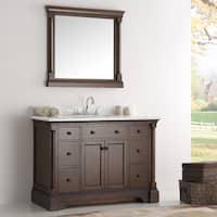 Fresca Kingston Antique Coffee 48-inch Traditional Bathroom Vanity w/ Mirror