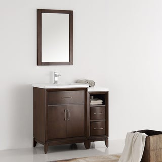 Fresca Cambridge Antique-coffee Wood 36-inch Bathroom Vanity with Mirror
