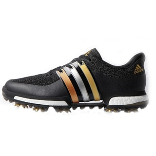 Adidas Tour360 Prime Boost Golf Shoes Black/Gold Metallic