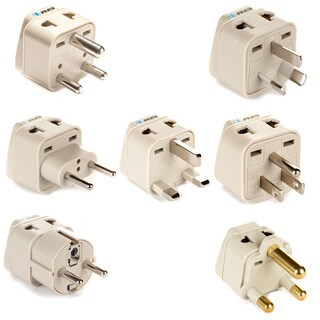 OREI Universal 2-in-1 7-piece Plug Adapter Set for All Countries in the World